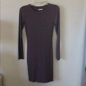 Long Sleeve Purple (Mauve) Fitted Dress